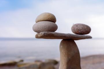 Zen balance of stones