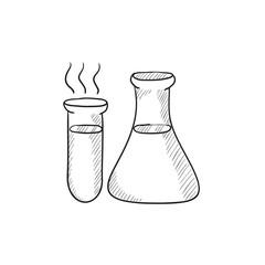 Laboratory equipment sketch icon.