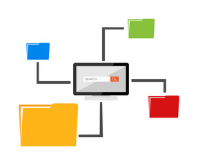 File sharing concept. Files management.