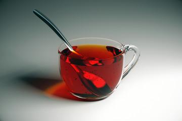 Tea on grey table