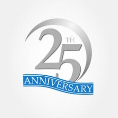 anniversary ring logo blue ribbon 25