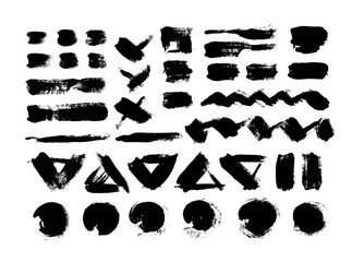 Black grungy vector abstract hand-painted background. Brush Design.
