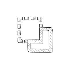 Merge sketch icon.