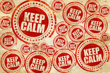 keep calm, red stamp on a grunge paper texture