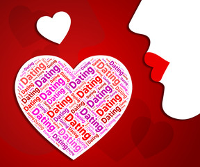 Dating Heart Indicates Hearts Relationship And Loved