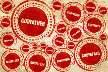 godfather, red stamp on a grunge paper texture