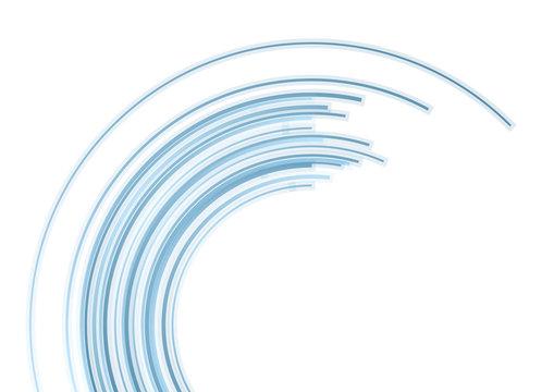 Blue tech arc vector background