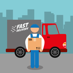 Delivery design. Shipping icon. Flat illustration, vector