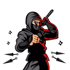black ninja cartoon.