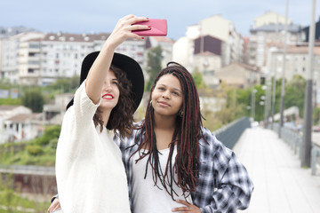 young women and selfie