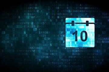 Time concept: Calendar on digital background