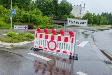 Hochwasser in Ehingen Sommer