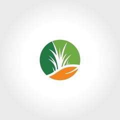 abstract green eco logo