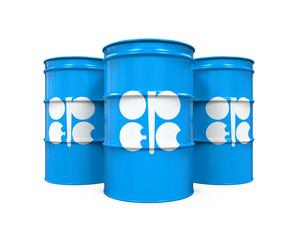 OPEC Flag Oil Barrel