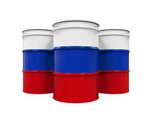 Russian Flag Oil Barrel