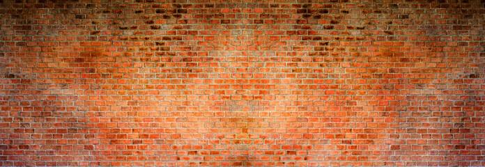 Red brick background. High resolution panorama