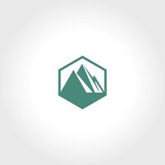 polygon mountain icon logo