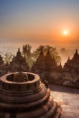 Papiers peints Indonésie Borobudur Temple, Yogyakarta, Java, Indonesia.