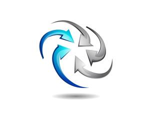 Abstract Circular Arrow Logo