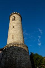 Uhrturm von Oppenheim in Rheinhessen in Rheinland-Pfalz
