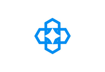 square geometry business logo