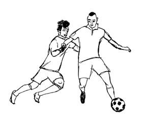 fussballspieler in aktion