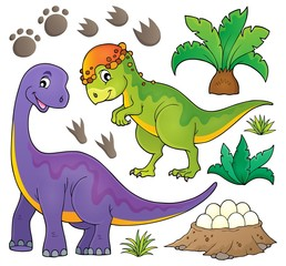 Photo sur Plexiglas Dinosaurs Dinosaur topic set 5