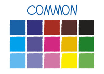 Common Color Tone without Code Vector Illustration
