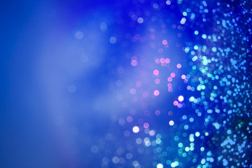 glitter wonderful lights blue background.