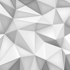 Low polygon shapes background, triangles mosaic, vector design, creative background, templates design, grey wallpaper