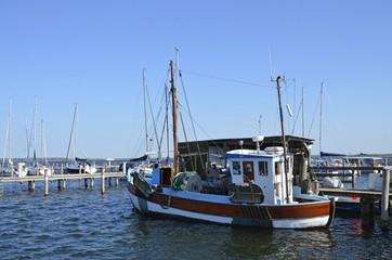 Fischerboote im Hafen von Kloster, Hiddensee