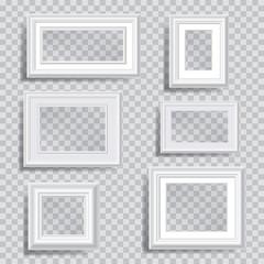 white transparent frames