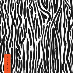 Zebra hand drawn seamless pattern