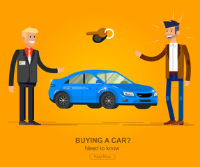 design concept of choice and buying a car