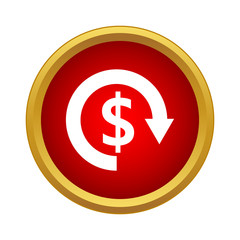 Currency exchange icon, simple style