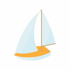 Boat icon, cartoon style