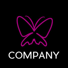 Vector sign Butterfly. Spa, yoga and relax concept