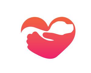 Modern Pet Logo - Love Dog Shelter