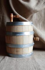 Oak Barrel On Canvas