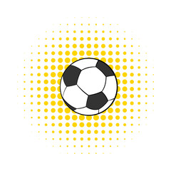 Soccer ball icon, comics style