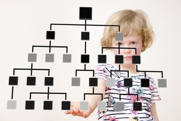 Girl holds pedigree