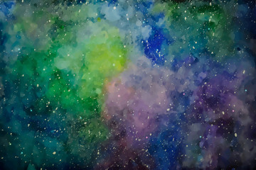 Space with many stars.