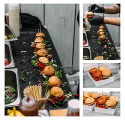 mini hamburgers, mini burgers, party food, finger food making co