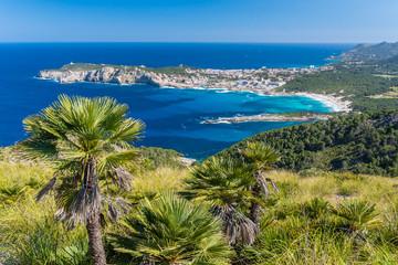 Fototapete - Cala Agulla and beautiful coast at Cala Ratjada of Mallorca, Spain