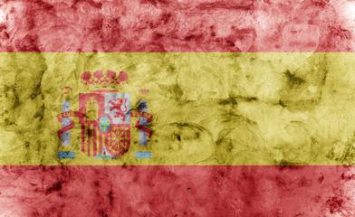 closeup of grunge spanish flag