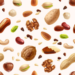 Nuts seamless patern