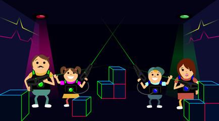 laser game laser tag family fun