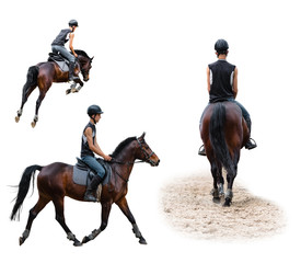 man riding on a horse