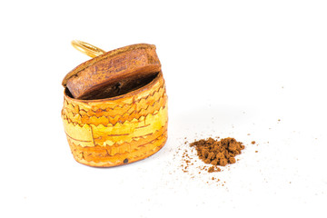Old small gift pack tobacco snuff with tobacco.