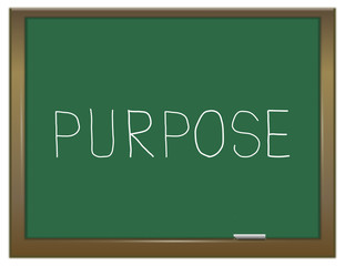 Purpose word concept.